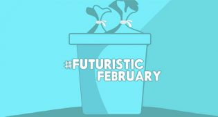 zero rifiuti sfida social Futuristic February
