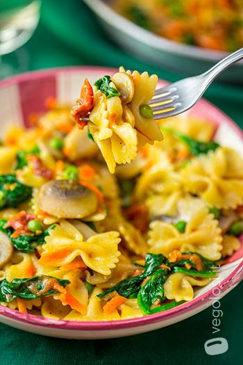 One pot pasta vegan primaverile