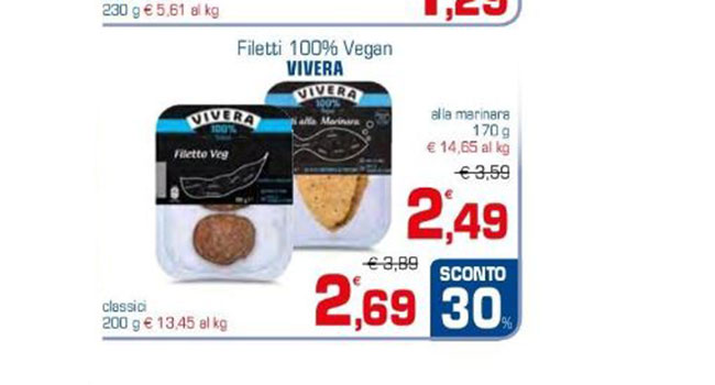 Filetto vegano Vivera supermercati Sigma