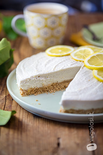 Cheesecake vegan al limone
