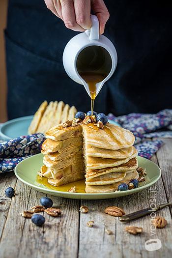 Pancake vegani alle mele