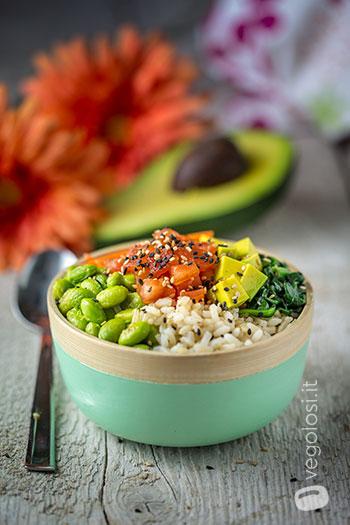 Poke bowl vegana