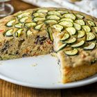Torta salata vegana soffice alle verdure