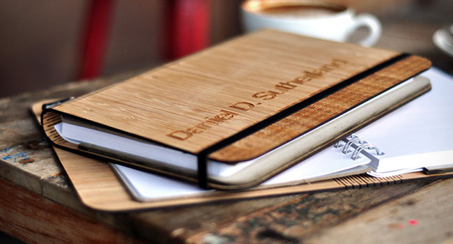 Quaderno in carta riciclata e bambù