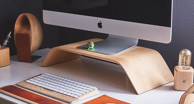 accessori scrivania bambù
