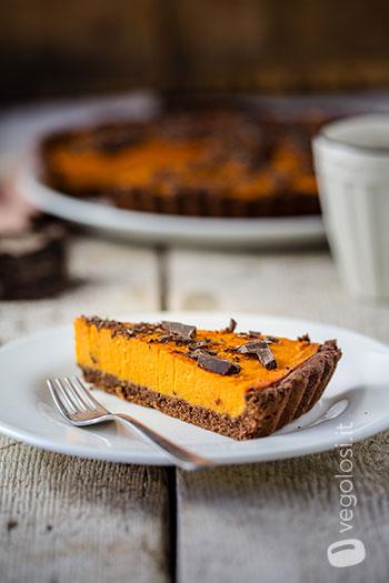 Crostata patate dolci e cioccolato
