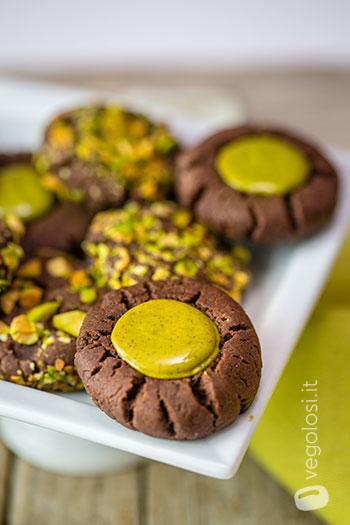 biscotti vegani cioccolato pistacchi