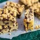 Barrette di cookies al cioccolato fondente