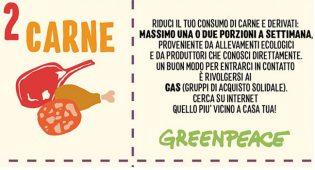 """Greenpeace pubblica l'eco menu. SSNV critica: """"Fuorviante e portatore di false certezze"""""""