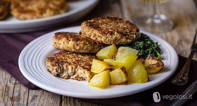 Hamburger vegani di cavolfiori