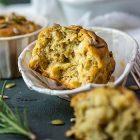 Muffin vegani salati alle patate e rosmarino