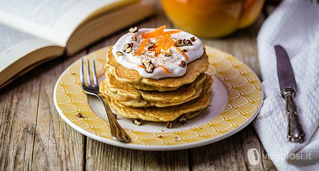 Pancake vegani dolci alle carote