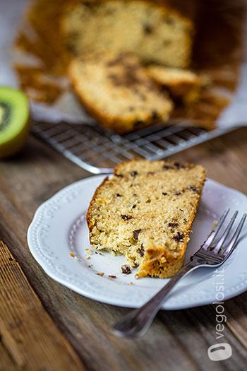 Plumcake vegano ai kiwi e cioccolato