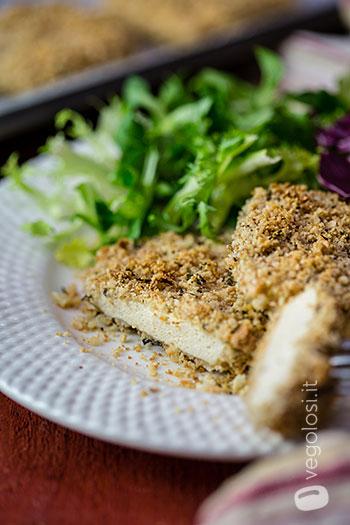Tofu em crosta de limão, amêndoa e alecrim