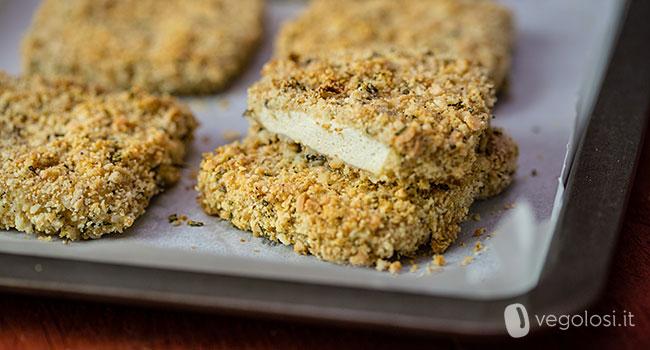 Tofu in crosta di limone, mandorle e rosmarino