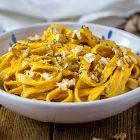 tagliatelle con crema di carote