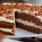 Brown velvet cake vegana