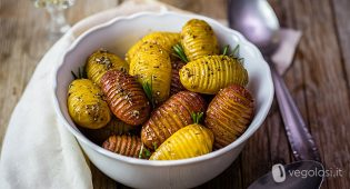 patate hasselback con lemon juice