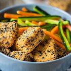 tofu impanato al cocco e sesamo nero