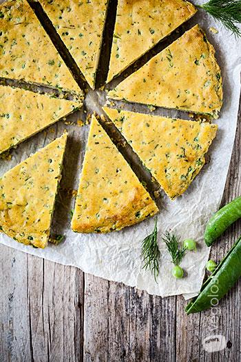 Omelete vegana com ervilhas, endro e cevada - pratos principais veganos 6