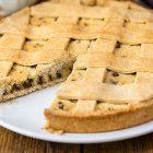 Crostata con ricotta vegan e cioccolato fondente