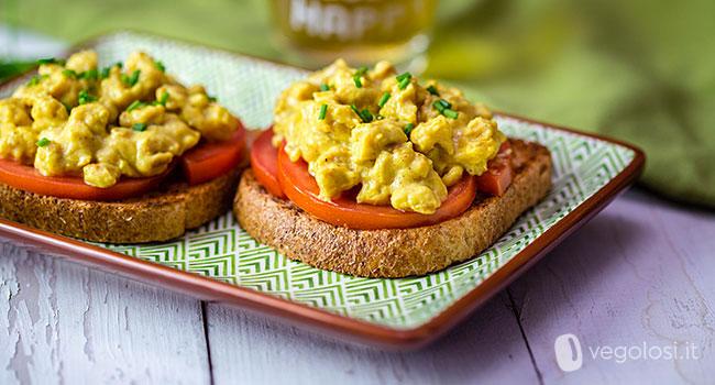 Uova strapazzate vegane
