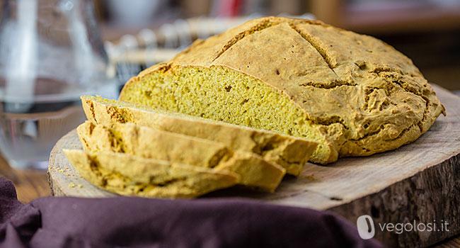 Soda bread vegan alla zucca