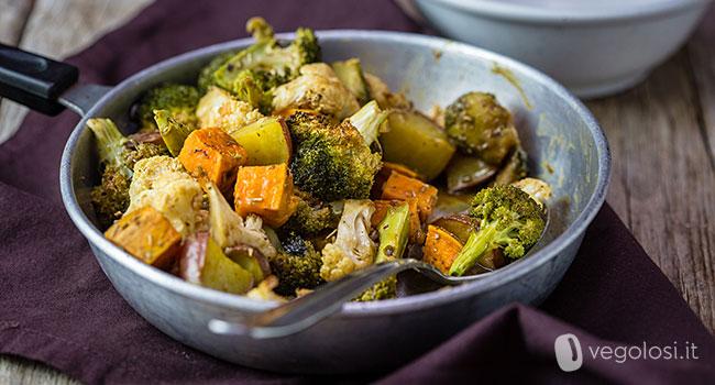 Verdure invernali al forno con salsa ai 4 sapori