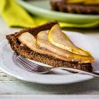 Crostata vegan pere e cioccolato