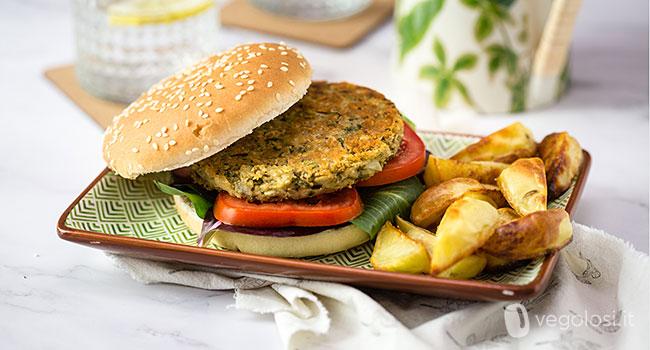 Burger vegani di carciofi e cannellini