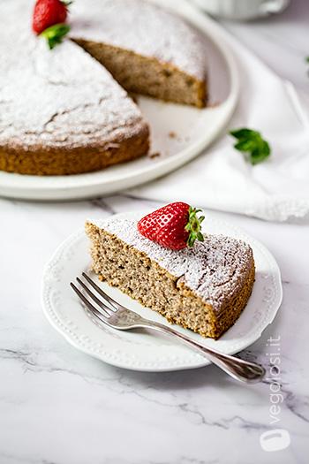 Torta pan di fragole vegan