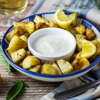 Patate arrosto al limone alla greca