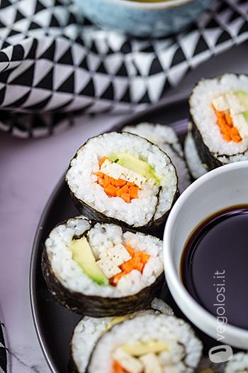 Sushi vegan fatto in casa